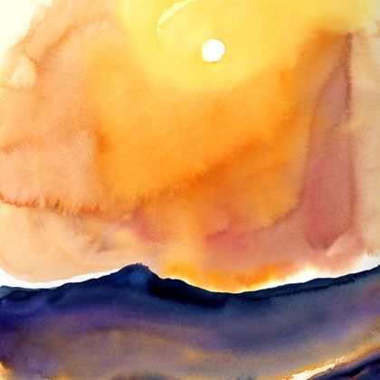 Rise of Light, watercolour by Ana Nelson